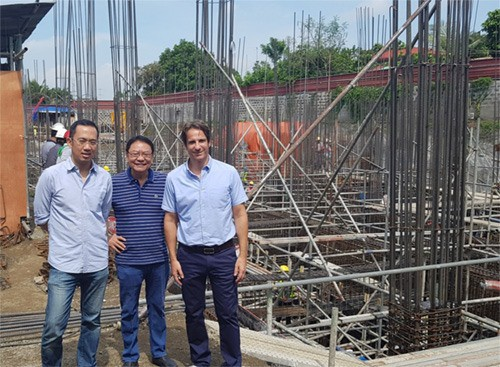 IDC's TOP MANAGEMENT VISITS MIRAMONTI GREEN RESIDENCES' CONSTRUCTION SITE