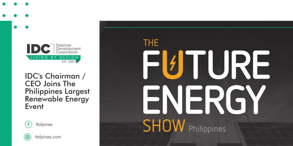IDC CHAIRMAN & CEO JOINS THE PHILIPPINES LARGEST RENEWABLE ENERGY EVENT