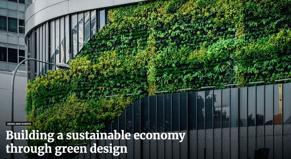 Building a sustainable economy through green design