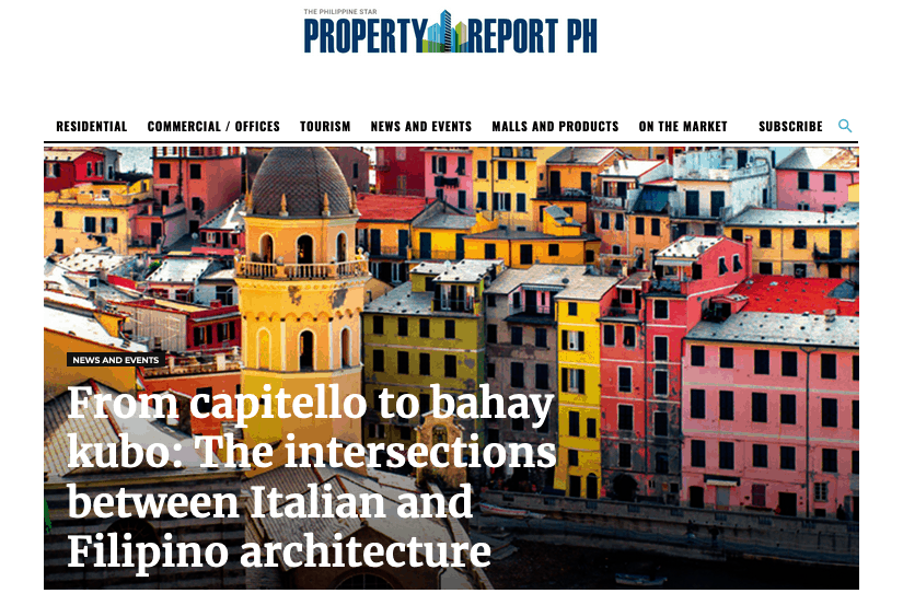 From capitello to bahay kubo: The intersections between Italian and Filipino architecture