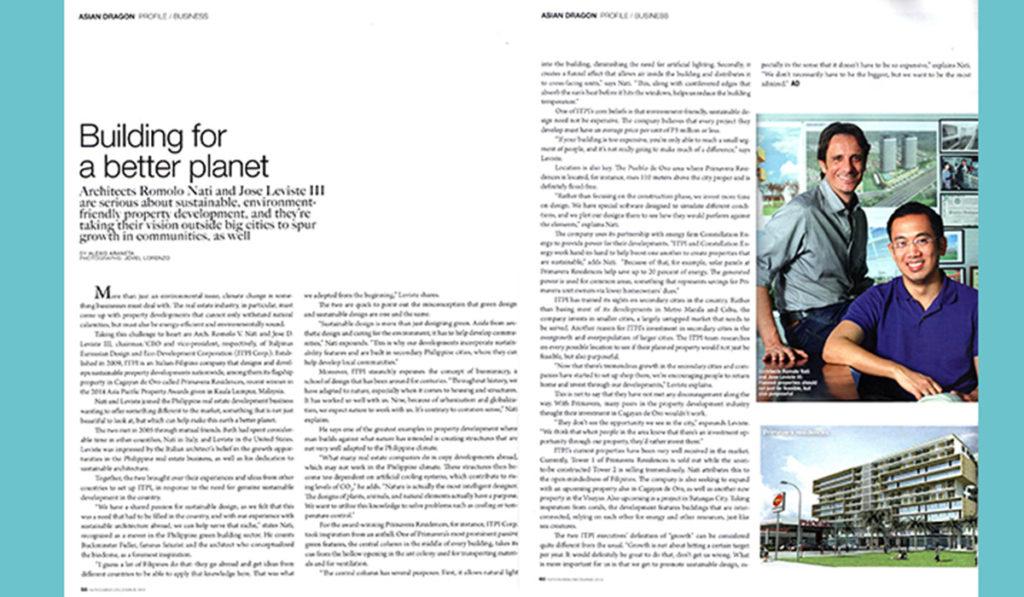 Asian Dragon Mag features ITPI Executives