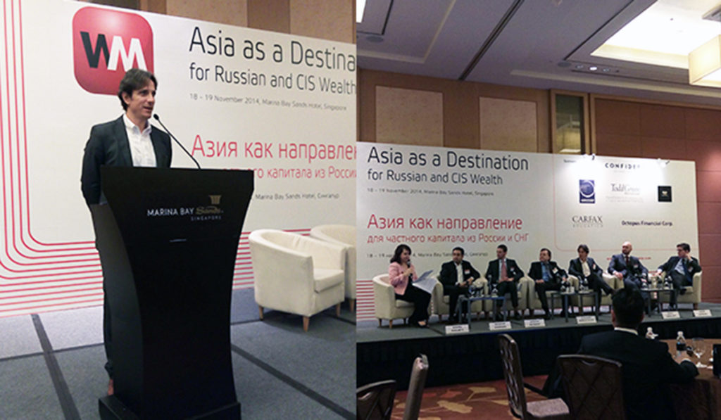 """ITPI CEO represents PH in """"Asia as a destination for Russian and CIS Wealth"""" Summit 2014 in Singapore"""